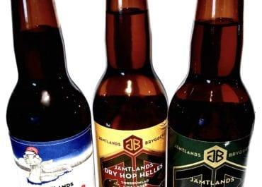 Tre öl med mysig julfeeling