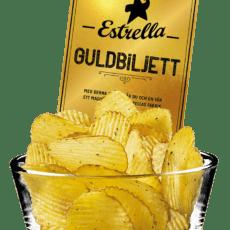 Estrella gömmer guldbiljetter i tio chipspåsar över hela Sverige. Jakten börjar nu!