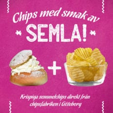 Chips med smak av semla från Estrella