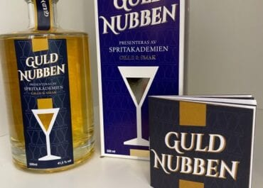 GULDNUBBEN - Limiterad och modern svensk premiumsnaps skapad av Spritakademien
