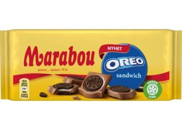 En kexig nyhet - chokladkaka från Marabou med hela Mini Oreos