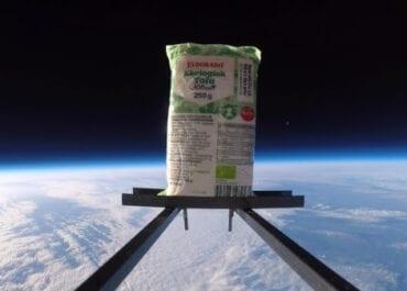 Världens första ekologiska tofu i rymden