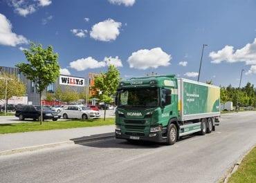 Första helelektriska Scanialastbilen i drift när Dagab växlar upp elektrifieringen av transporter