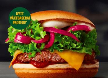 """100% växtbaserat """"kött"""" i fler burgare på McDonald's"""