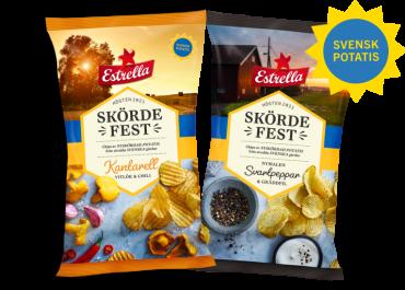 Höstchips på nyskördad svensk potatis