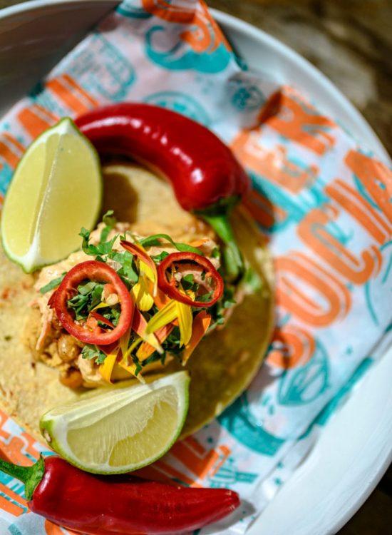 HD-Malmö-taco-vegan, friterade kikärtor.